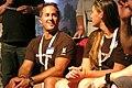 Bryan Roth and Annie Love at Geocoinfest 2013 in Prague.JPG