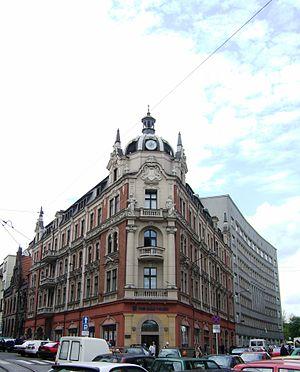 Katowice market square - PKO BP Bank Building