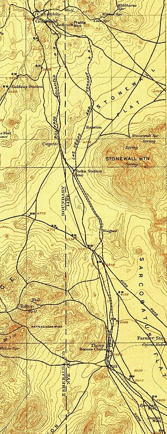 Bullfrog Goldfield Railroad - Northern section of the route in 1908