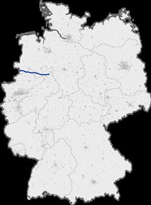 Bundesautobahn 30 - Image: Bundesautobahn 30 map