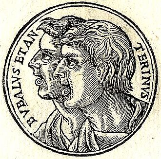 "Bupalus and Athenis - Bupalus and Athenis from ""Promptuarii Iconum Insigniorum """