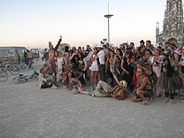 Burning Man 2013 Photo chapel, The wedding party! (9660390094).jpg