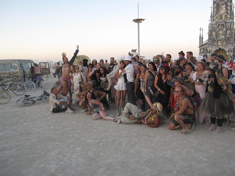Burning Man 2013 Photo chapel, The wedding party! (9660390094).jpg