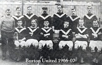 Burton United F.C. - The Burton United team of 1906–07.