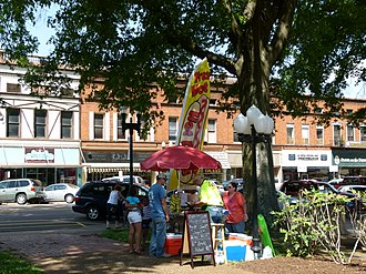 National Register of Historic Places listings in Henry County, Tennessee - Image: Businesses by Court Square Paris, TN