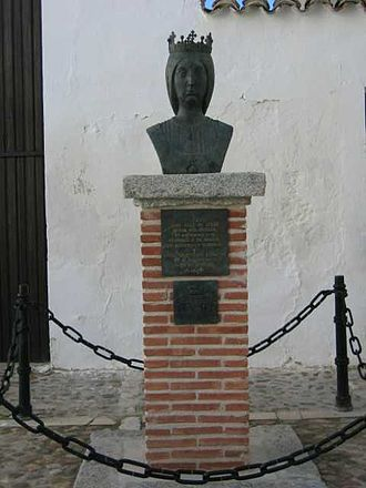 Ocaña, Spain - Busto de Isabella of Spain in Ocaña.