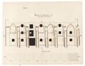 Byggnadsritning för ombyggnad av S-t Georg kyrka till tyghus och magasin, 1670-tal - Skoklosters slott - 98941.tif