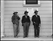 Byron, California. Field laborers of Japanese ancestry in front of Wartime Civil Control Administra . . . - NARA - 537774