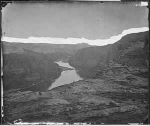 Glen Canyon - Glen Canyon in 1873, near the confluence of the Colorado and San Juan Rivers
