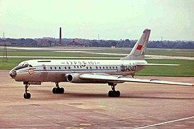 Ту-104Б 1-го Ленинградского авиаотряда Министерства гражданской авиации СССР («Аэрофлот») (Манчестер, 1974 год)