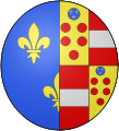 COA french queen Marie de Médicis.svg