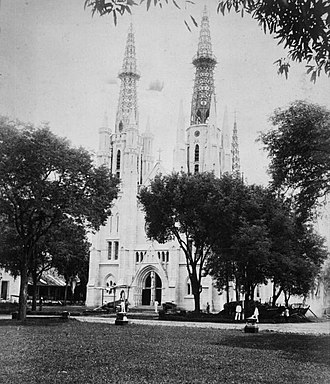 St. Mary of the Assumption Cathedral, Jakarta - The cathedral ca. 1870–1900