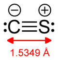 Lewis structure, showing a C−S bond distance of 1.5349 angstroms