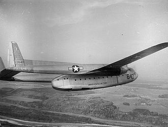Fairchild C-119 Flying Boxcar - C-119C, AF Ser. No. 51-2640, 781st Troop Carrier Squadron / 465th Troop Carrier Wing.