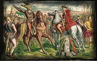 Ariovistus - Caesar and Ariovistus (meeting before the battle) by Peter Johann Nepomuk Geiger