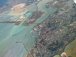 Cagliari aerial view