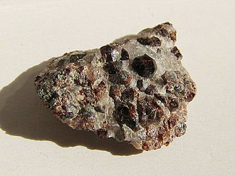 Calderite - Calderite crystals on matrix from Sunndal Norway
