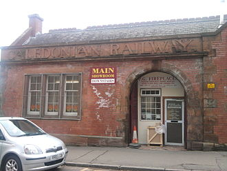 Caledonian Railway - Shades of the past. A former Caledonian Railway building in Hamilton, Scotland.