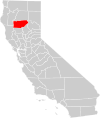 California county map (Tehama County highlighted).svg