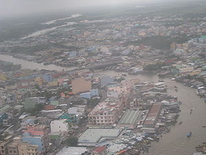 Cà Mau seen from the air