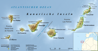 Location of the island