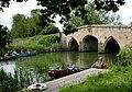 Canoeing at Radcot Bridge, Oxfordshire - geograph.org.uk - 13760.jpg