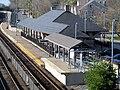 Canton Junction station building and mini-high platform, April 2016.JPG