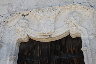 Restelo Hermitage - The main entrance to the hermitage, showing the ornate sculpted limestone and coat-of-arms