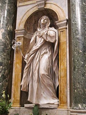 Ercole Ferrata - Image: Cappella chigi (siena), Ercole Ferrata, santa caterina da siena 02