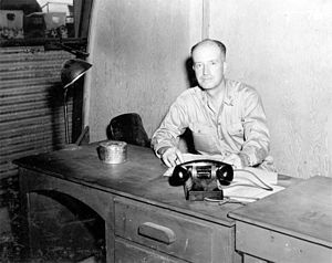 William Sterling Parsons - Captain Parsons on Tinian in 1945