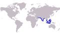 Carangoides praeustus distribution.PNG