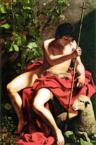 John the Baptist (Caravaggio) - Image: Caravaggio Baptist Toledo