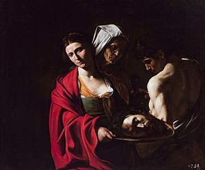 The Beheading of St John the Baptist (Caravaggio) - ''Salome with the Head of John the Baptist'', Caravaggio (Madrid)