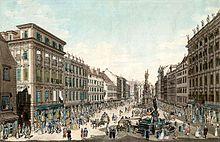 Josephs Wien: Am Graben (Carl Schütz, 1781). (Quelle: Wikimedia)
