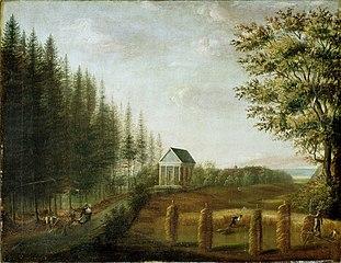 Fra parken på Ullevål gård