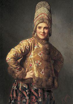 Русская женщина одна дома