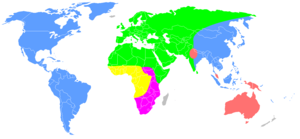 416162ebd Distribution of the races after the Pleistocene according to Carleton Coon.  Caucasoid race