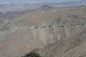 Carrizo Gorge Railway - Photo of San Diego and Arizona Eastern Railway trestle in Carrizo Gorge.