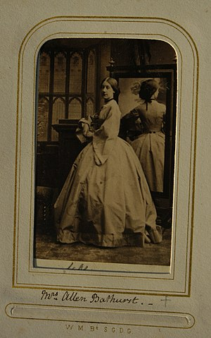 John Warren, 3rd Baron de Tabley - Image: Carte de visite of Mrs Allen Bathurst (1839 1872)