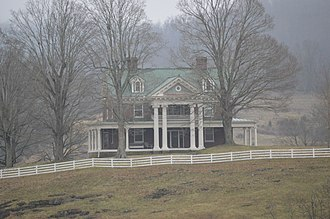 National Register of Historic Places listings in Russell County, Virginia - Image: Carter Hill near Lebanon