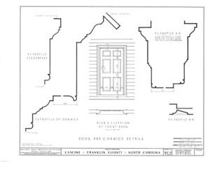Cascine, State Route 1702, Louisburg, Franklin County, NC HABS NC,35-LOUBU.V,1- (sheet 8 of 12).png