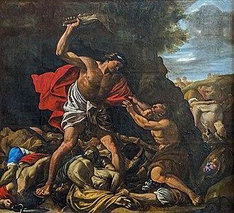 Hilaire Pader - Image: Cathédrale Saint Étienne de Toulouse Samson massacrant les Philistins PM31000755