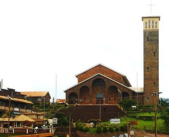 Kumbo - Kumbo Cathedral on the top of Square