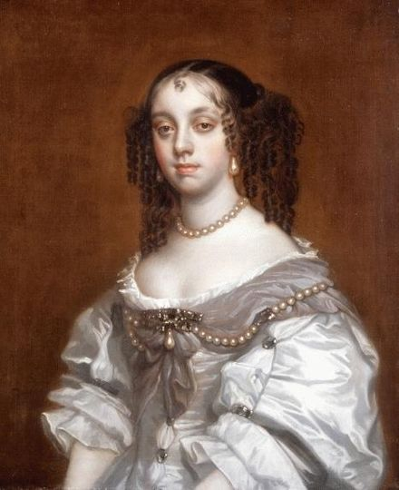 Queen Catherine of Braganza, wife of Charles II of England, credited with introducing the English to tea-drinking, popular with the Portuguese nobility. Catherine of Braganza, Queen of England.jpg