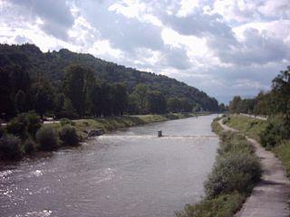 Savinja river in Slovenia