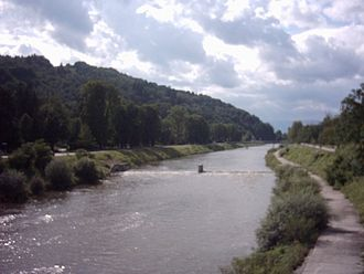Savinja - The Savinja in Celje, before it turns south to Laško