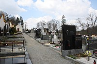Cemetery near Haugwitz crypt in Náměšť nad Oslavou, Třebíč District.jpg
