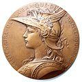 Centenaire de la banque de France médaille avers.JPG