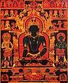 Center detail, 'The Dhyani Buddha Akshobhya', Tibetan thangka, late 13th century, Honolulu Academy of Arts (cropped).jpg