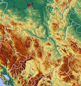 Kučaj mountains is located in Central Serbia